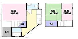 [一戸建] 兵庫県神戸市長田区大谷町3丁目 の賃貸【/】の間取り