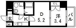 No77 HANATEN 002[605号室号室]の間取り
