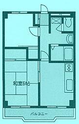 トーママンション[1階]の間取り