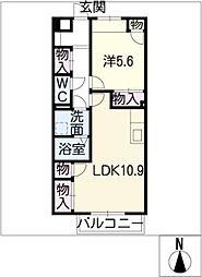 エントピアB棟[1階]の間取り