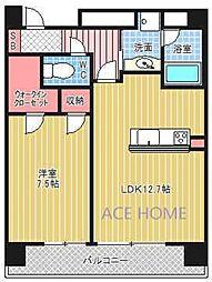 アーバンエース東心斎橋パル[1007号室号室]の間取り