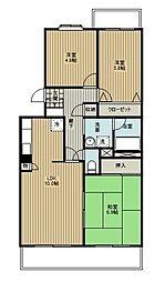 埼玉県さいたま市浦和区木崎5丁目の賃貸マンションの間取り