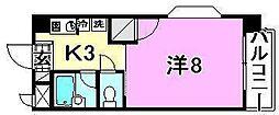 美沢寿ハイツ[301号室]の間取り