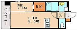 グランフォーレプライム神屋町[6階]の間取り