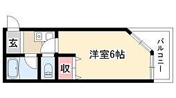 愛知県名古屋市天白区植田山5丁目の賃貸マンションの間取り