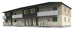 宮城県仙台市太白区富田字京ノ北の賃貸アパートの外観