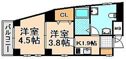 兵庫県伊丹市南本町1丁目の賃貸マンションの間取り