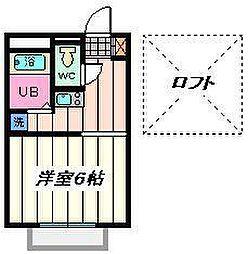 埼玉県さいたま市西区三橋の賃貸アパートの間取り