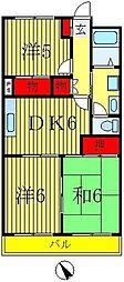 第3東マンション[3階]の間取り