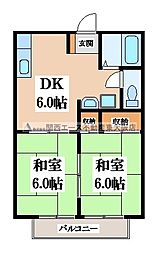 KMKハイツ[2階]の間取り