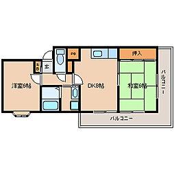 兵庫県尼崎市崇徳院1丁目の賃貸マンションの間取り