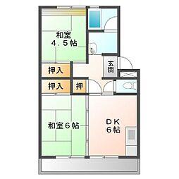 上浜団地(3・4号棟)[4-306号室]の間取り