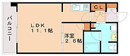 パークアクシス高宮東[2階]の間取り