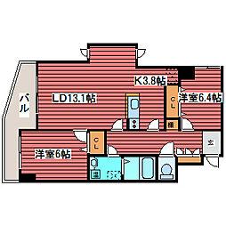 ヴィラ福住[10階]の間取り