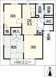 ディアス赤石[2階]の間取り