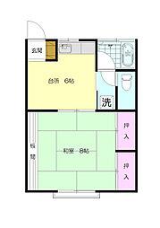 第3飯島荘[2階]の間取り