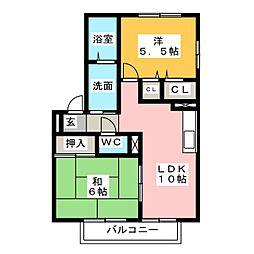 サンパーク伊呂波[1階]の間取り