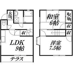 [テラスハウス] 静岡県浜松市西区篠原町 の賃貸【/】の間取り