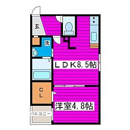 札幌市営東豊線 新道東駅 徒歩2分の賃貸マンション 4階1LDKの間取り