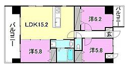 永田小坂ビル[603 号室号室]の間取り