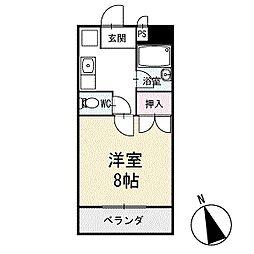 めぞんリバーサイド 1階[103号室]の間取り