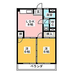 松野マンション[4階]の間取り