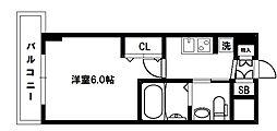 大阪府大阪市東淀川区東中島1丁目の賃貸マンションの間取り
