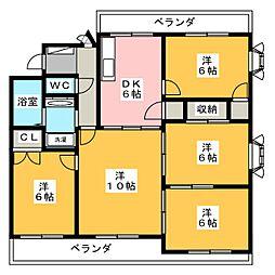 稲舟マンション[3階]の間取り