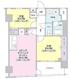 東京都中央区新川2丁目の賃貸マンションの間取り