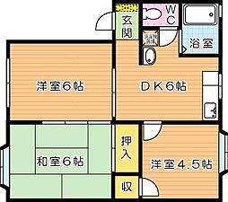 ドミールTAKAMI[1階]の間取り