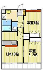 JR飯田線 伊那大島駅 徒歩5分の賃貸アパート 1階2LDKの間取り