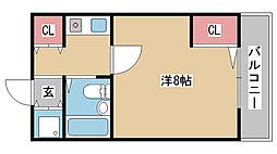 兵庫県神戸市中央区吾妻通1丁目の賃貸マンションの間取り