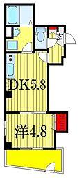 ツリーフィールド幕張[1階]の間取り