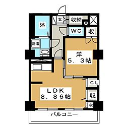 レジデンスカープ札幌[5階]の間取り