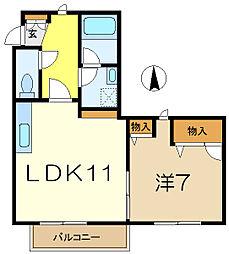 MKツインステージ[1階]の間取り