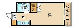 兵庫県姫路市広畑区小松町2丁目の賃貸マンションの間取り