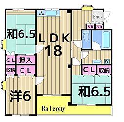 サニーオオムラ[402号室]の間取り