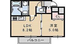 カーサ松崎町[102号室]の間取り