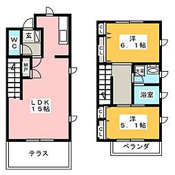 赤坂公園ハイツ[1階]の間取り