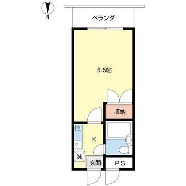 コーポ竹島[208号室]の間取り