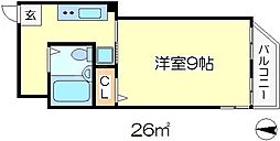 EXEDRA都島[4階]の間取り