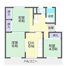 新宿団地6号棟[106号室]の間取り