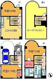 [一戸建] 東京都足立区綾瀬1丁目 の賃貸【/】の間取り