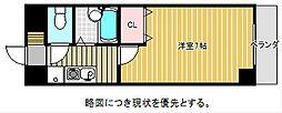 愛知県名古屋市千種区田代町字蝮池上の賃貸アパートの間取り