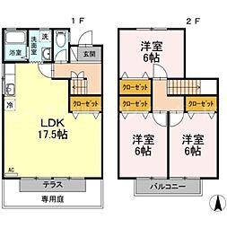 [テラスハウス] 香川県高松市屋島西町 の賃貸【/】の間取り