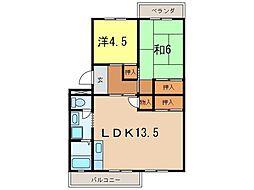 メゾン江坂[2階]の間取り