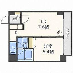 北海道札幌市豊平区豊平四条11丁目の賃貸マンションの間取り