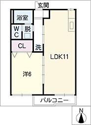 フォーブル稲垣[1階]の間取り