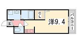兵庫県加古川市別府町新野辺の賃貸マンションの間取り