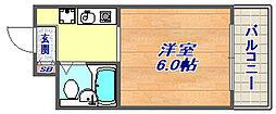 フォーレ本山中町[402号室]の間取り